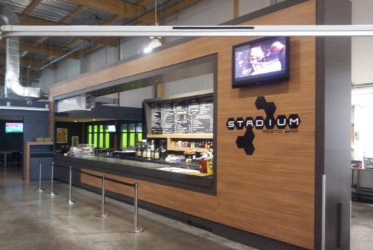 Photo de la réalisation Stadium Restaurant Bar